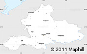 Silver Style Simple Map of Gelderland, single color outside