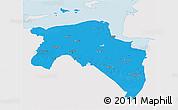 Political 3D Map of Groningen, single color outside