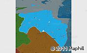 Political Map of Groningen, darken