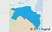 Political Map of Groningen, lighten