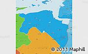 Political Map of Groningen