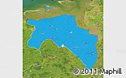 Political Map of Groningen, satellite outside
