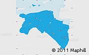 Political Map of Groningen, single color outside