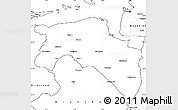 Blank Simple Map of Groningen
