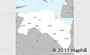 Gray Simple Map of Groningen