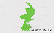 Political 3D Map of Limburg, single color outside