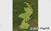 Satellite 3D Map of Limburg, darken
