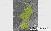 Satellite 3D Map of Limburg, desaturated