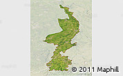 Satellite 3D Map of Limburg, lighten