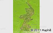 Satellite 3D Map of Limburg, physical outside