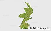 Satellite 3D Map of Limburg, single color outside