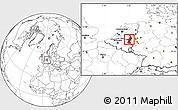 Blank Location Map of Limburg