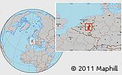 Gray Location Map of Limburg