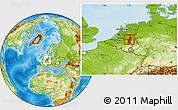 Physical Location Map of Limburg