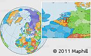 Political Location Map of Limburg