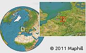 Satellite Location Map of Limburg
