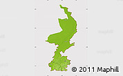 Physical Map of Limburg, cropped outside