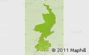 Physical Map of Limburg, lighten