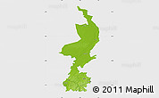 Physical Map of Limburg, single color outside