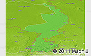 Political Panoramic Map of Limburg, physical outside