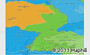 Political Panoramic Map of Limburg