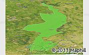 Political Panoramic Map of Limburg, satellite outside