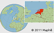 Physical Location Map Of Netherlands - Where is the netherlands located