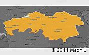 Political 3D Map of Noord-Brabant, darken, desaturated