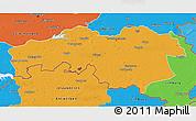 Political 3D Map of Noord-Brabant