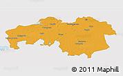 Political 3D Map of Noord-Brabant, single color outside