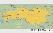 Savanna Style 3D Map of Noord-Brabant