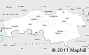 Silver Style Simple Map of Noord-Brabant