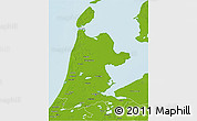 Physical 3D Map of Noord-Holland