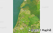 Satellite 3D Map of Noord-Holland