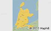 Savanna Style 3D Map of Noord-Holland