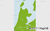 Physical Map of Noord-Holland