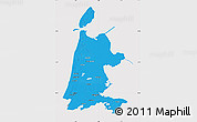 Political Map of Noord-Holland, cropped outside