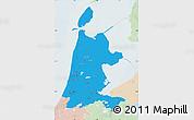 Political Map of Noord-Holland, lighten