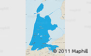 Political Map of Noord-Holland, shaded relief outside