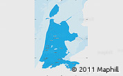 Political Map of Noord-Holland, single color outside