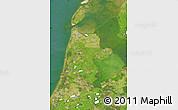 Satellite Map of Noord-Holland