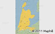 Savanna Style Map of Noord-Holland