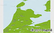 Physical Panoramic Map of Noord-Holland