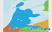Political Panoramic Map of Noord-Holland