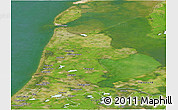 Satellite Panoramic Map of Noord-Holland