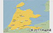 Savanna Style Panoramic Map of Noord-Holland