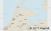 Shaded Relief Panoramic Map of Noord-Holland