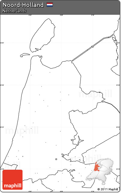 free blank simple map of noordholland no labels