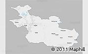 Gray 3D Map of Overijssel, single color outside