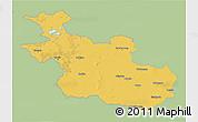 Savanna Style 3D Map of Overijssel, single color outside